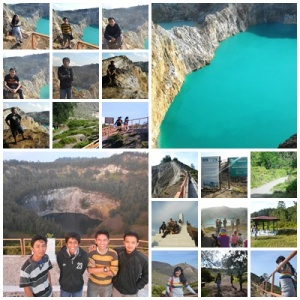 Me and Team in Kelimutu National Park