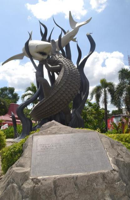 Trademark Surabaya Patung Buaya dan Hiu