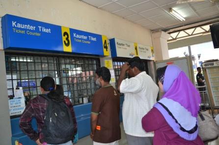 Loket Tiket di Stasiun Klang