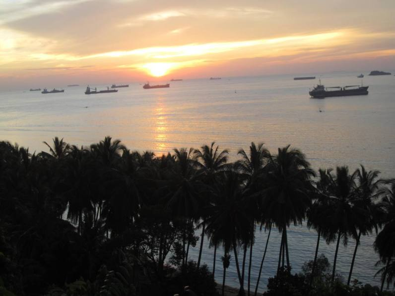 Sunset di Dermaga Teluk Bayur