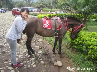 Monica with her horse