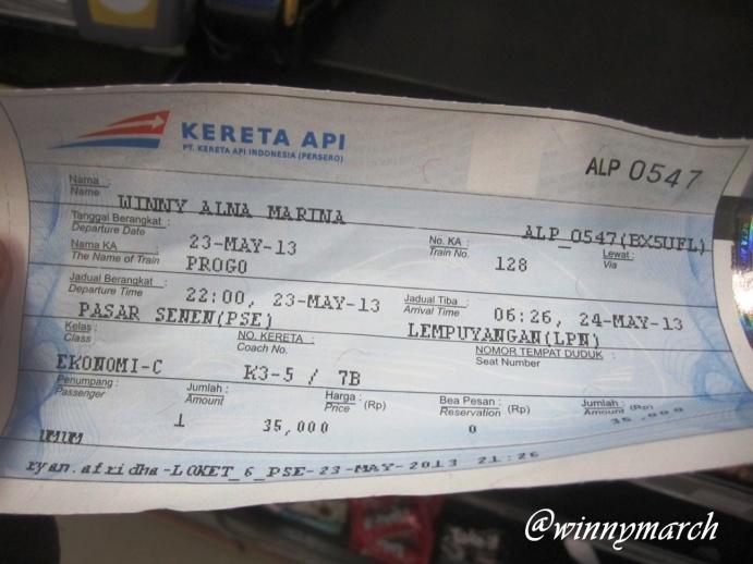 Tiket Kereta Api Progo