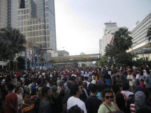 Masyarakat yang menanti Jakarta Festival