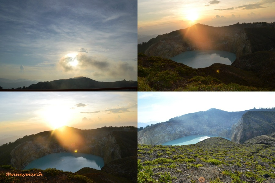 Sunrise on Kelimutu Flores