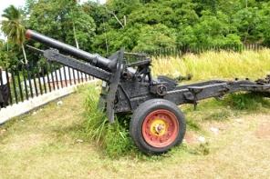Meriam pasukan Belanda di Benteng Huraba