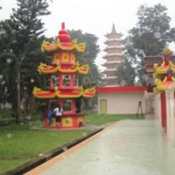 pemandangan Pulau Kemaro Palembang