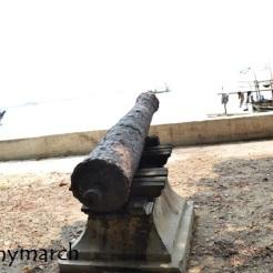 meriam di Pulau Cipir