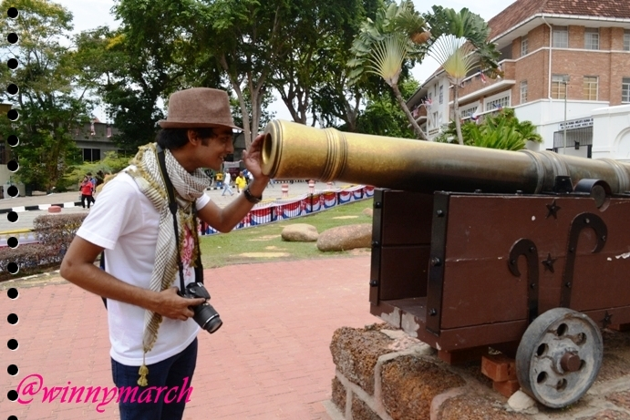 Nadeem in Porta de Santiago, melaka