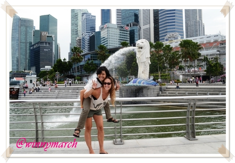 Travelmate in Merlion Park
