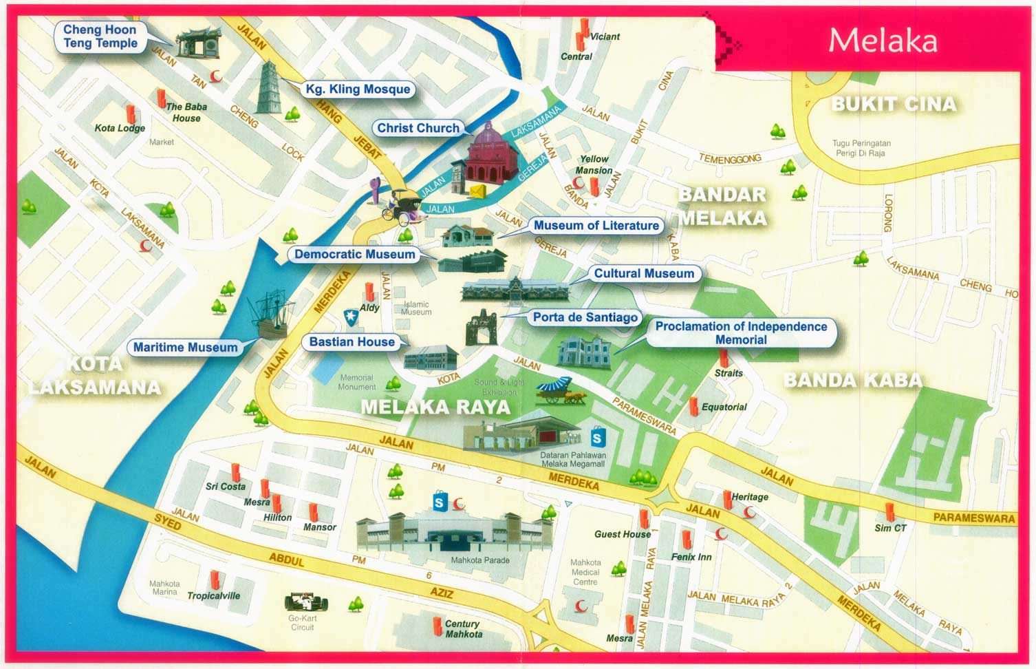 Peta Wisata Melaka (Sumber: Lakashop)