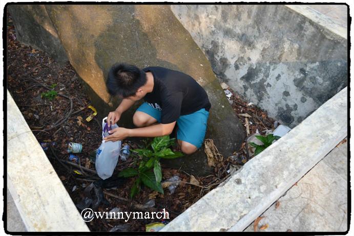 kebersihan di pulau onrust