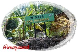 Penunjuk Arah wisata Goa Payaman