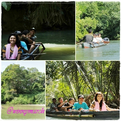 canoing in ujung kulon