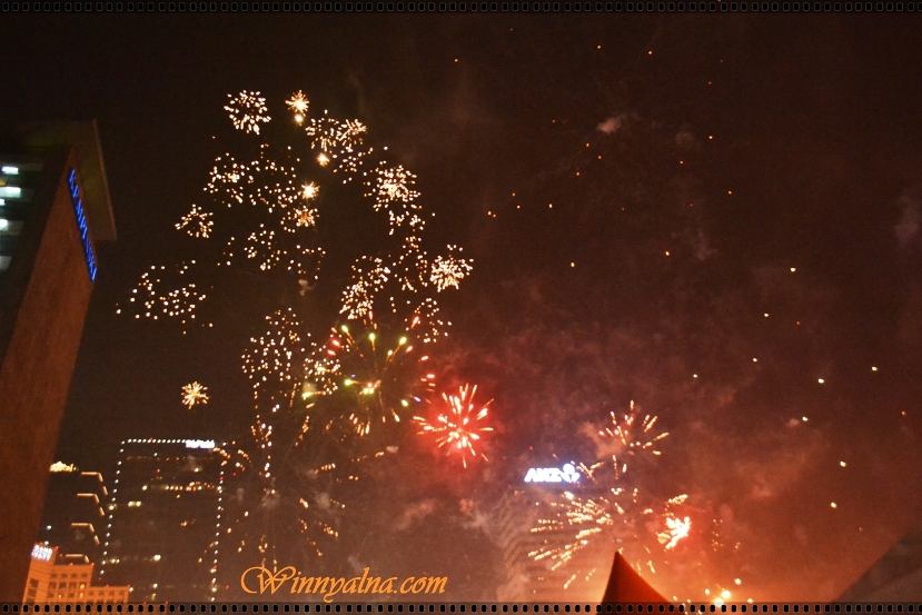 New Year 2014 in Jakarta Indonesia