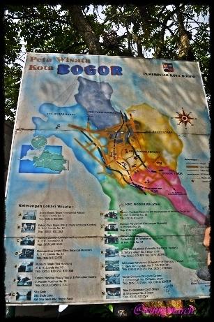 peta wisata bogor