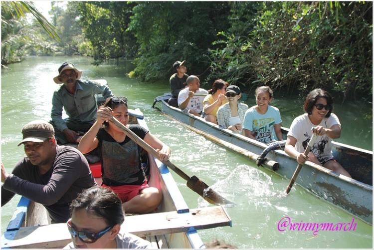 Canoeing in Ujung Kulon
