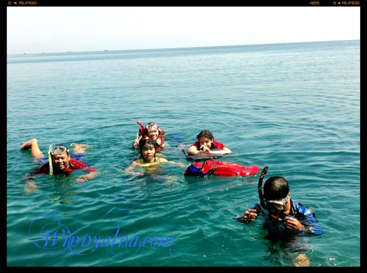snorkeling di Pulau tunda