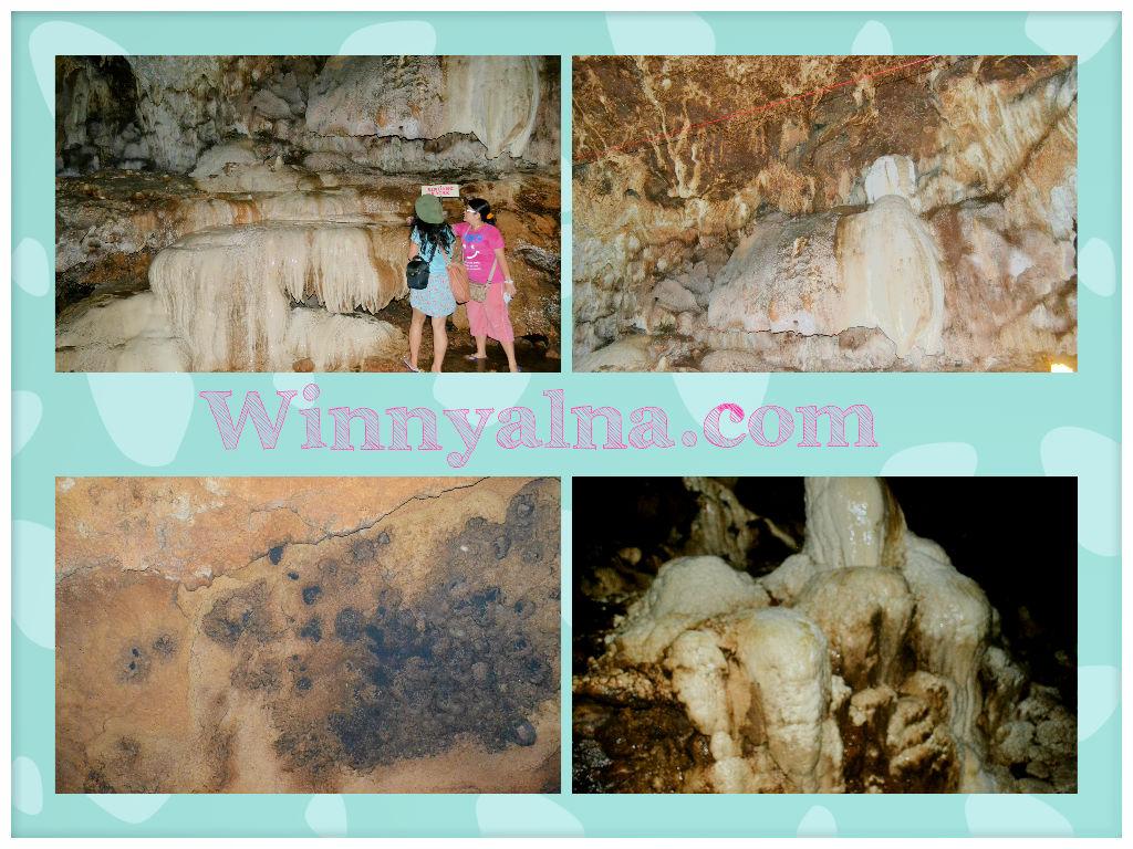 Bentuk batu di dalam Goa Petruk