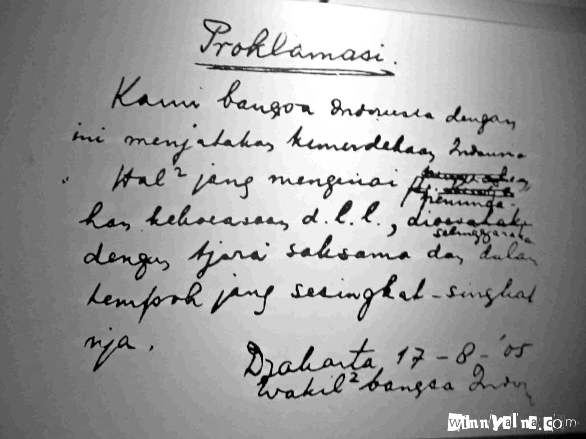 Replika naskah proklamasi