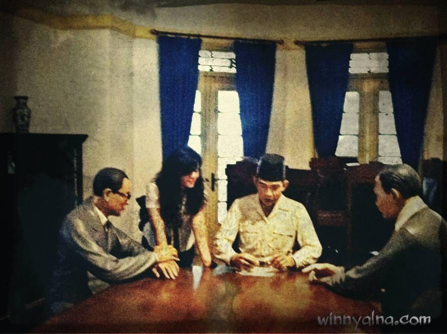 Replika Soeharto, Hatta dan Subarjo
