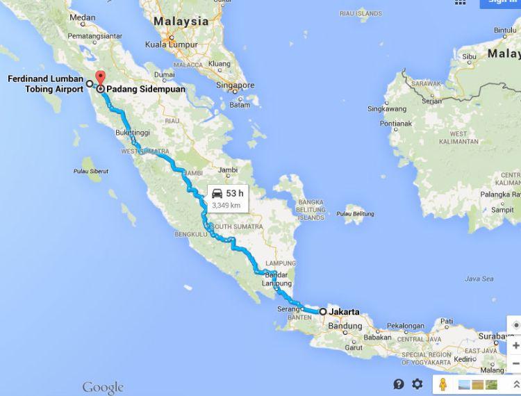 Rute Jakarta-Sibolga