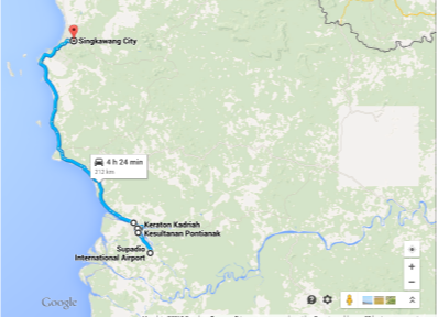 peta wisata pontianak