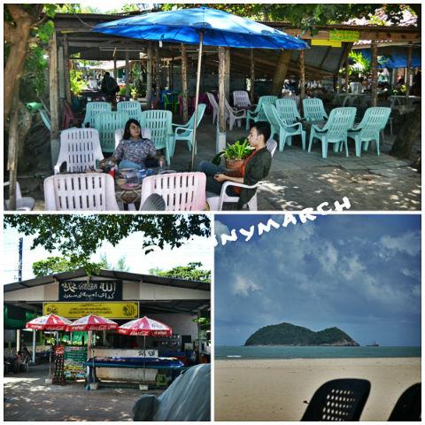 Makan siang di Pantai Songkhla