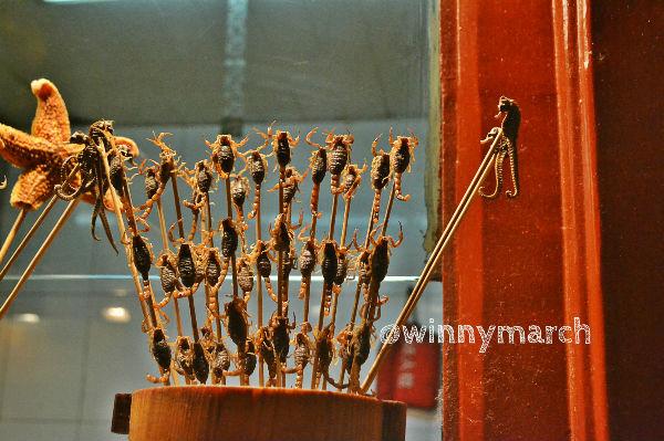 Culinary ektrim in wangfujing street