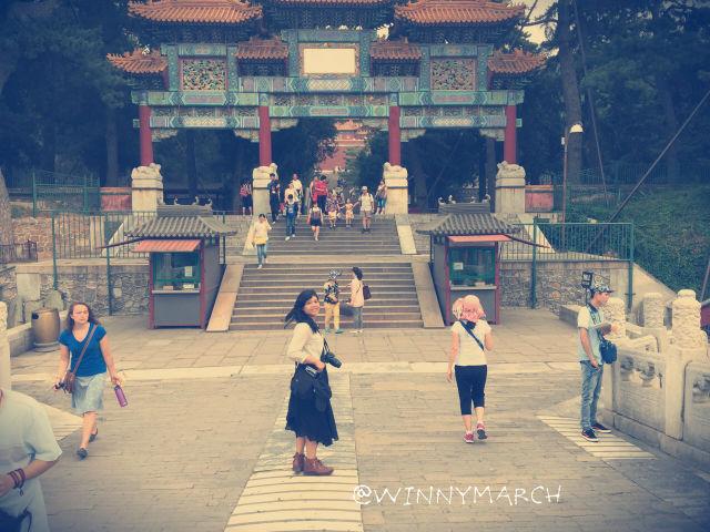 Aku di depan pintu Gerbang Summer Palace