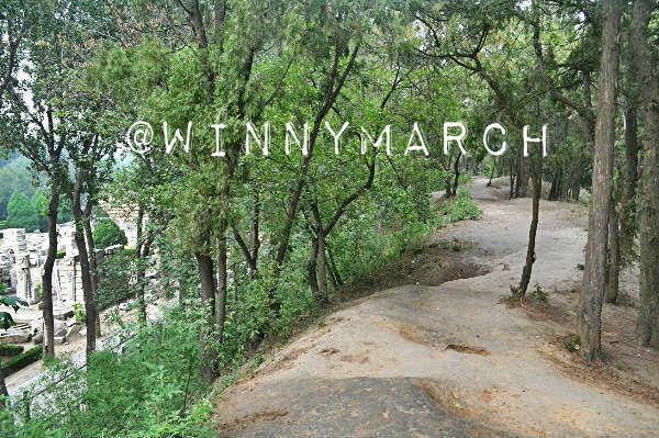 Jalanan ke Ruins of Yuanmingyuan