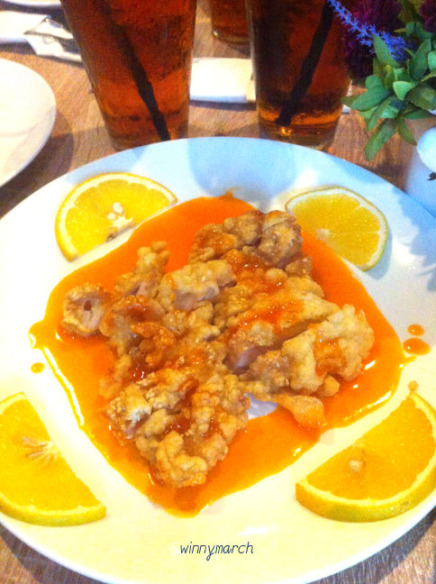 Fried Chicken Orange Sauce