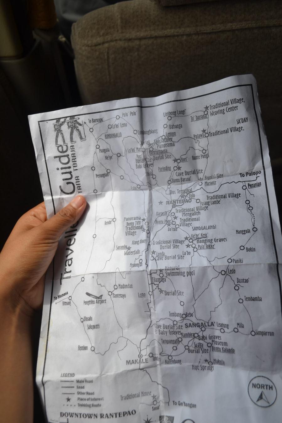 Peta wisata toraja