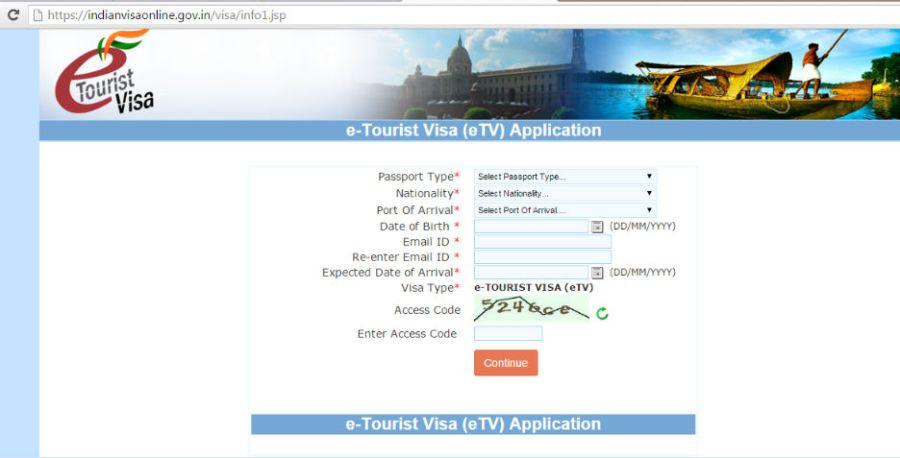 cara mengurus visa india