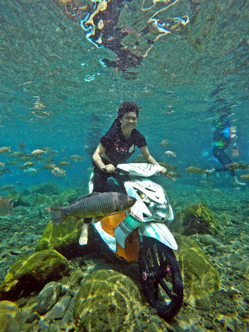 Umbul Ponggok, wisata snorkeling klaten