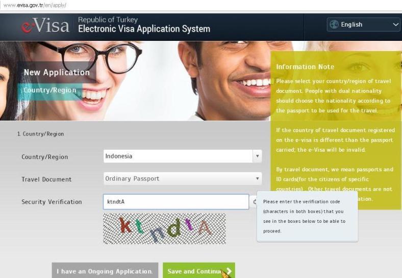 Langkah Membuat E-Visa Turki