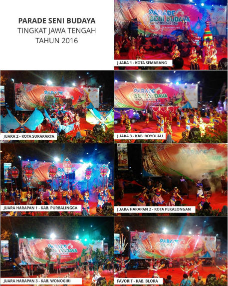 Juara Parade Seni dan Budaya Jawa Tengah